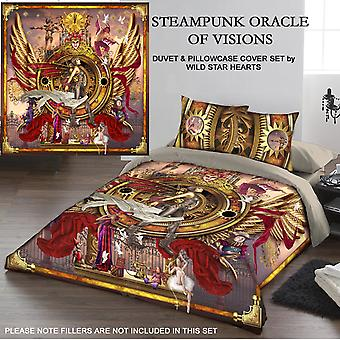 STEAMPUNK ORACLE OF VISIONS - DUVET & PILLOW COVERS CASE SET DOUBLE