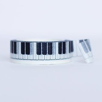 Piano sleutel Washi-Masking Tape 8m lange 1.5cm breed Craft