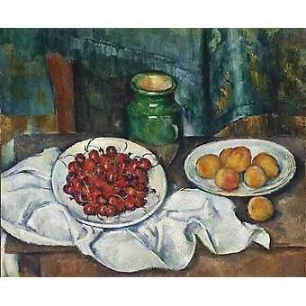 Paul Cezanne - Still Life with Cherries Poster Print Giclee