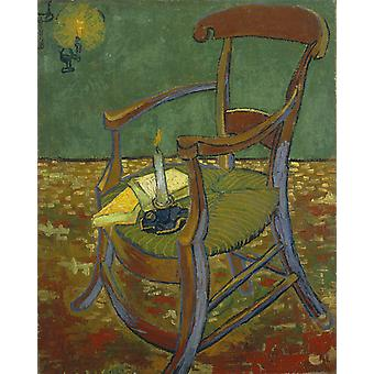 Vincent Van Gogh - Gauguin's Chair, 1888 Poster Print Giclee