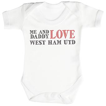 Me & Daddy Text Love West Ham United Baby Bodysuit / Babygrow