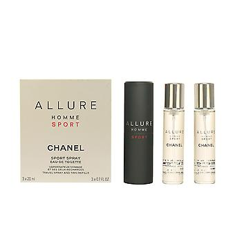 Chanel Allure Homme Sport Edt Spray 3 X 20 60 Ml voor mannen