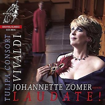 Zomer, Johannette Tulipa Consort - Vivaldi: Laudate!-vokalværker [CD] USA import