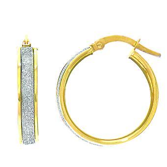 14K Gold Glitter orecchini, diametro 20mm