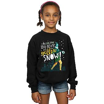 Elf Girls Yellow Snow Sweatshirt