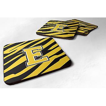 Набор 4 вензель - Тигр полоса - Черное золото пены подставки буквица E