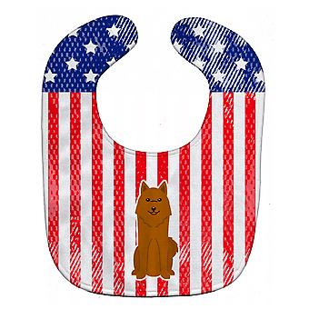 Carolines Treasures  BB3017BIB Patriotic USA Karelian Bear Dog Baby Bib