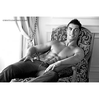 Christiano Ronaldo Abs Poster Poster Print