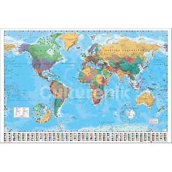 World Map 2012 Poster Poster Print