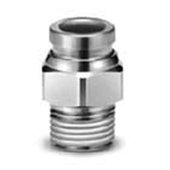 SMC Connector, R 1/8 Male, Push In 8 Mm