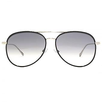 Jimmy Choo Reto Pilot Sunglasses In Black Palladium