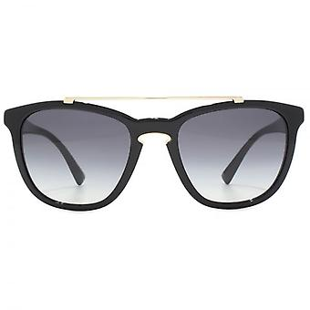 Valentino Keyhole Square Sunglasses In Black