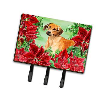 Rhodesian Ridgeback Poinsettas Leash or Key Holder