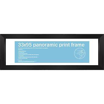 33x95cm Square Black Satin Frame