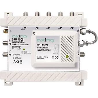 SAT multiswitch Axing SPU 54-09 Inputs (multiswitches): 5 (4 SAT/1 terrestrial