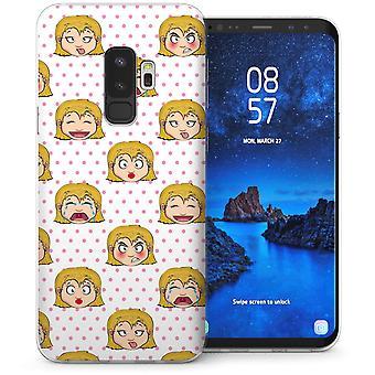 Samsung Galaxy S9 Plus Cartoon Faces TPU Gel Case – White