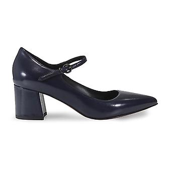 Franco Colli ladies FC214999 Blau leather pumps
