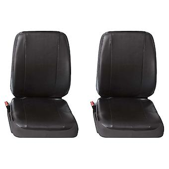 Two Single Commercial Leatherette Van Seat Covers Peugeot Boxer 2002-2006