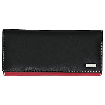 Felda Extra Long Card and Coin RFID Purse - Black/Red