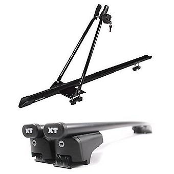 Roof Bars & Bike Carrier for Kia SOUL mk2 from 2014 with Solid Closed Rails