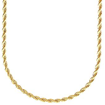 Fashion unisex rope cord chain - 3 mm gold