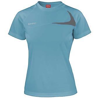Spiro Womens Colours Short Sleeve Dash Training Sports Fitness Running Shirt