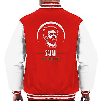 Mo Salah Liverpool Hes Quick Like Men's Varsity Jacket