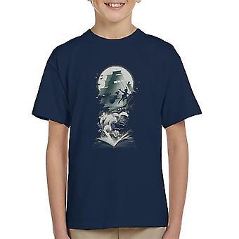 Peter Pan Neverland Captain Hook skipet Kids t-skjorte