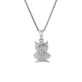 Orphelia Silver 925 Chain With Pendant Owl With Zirconium  ZH-7339