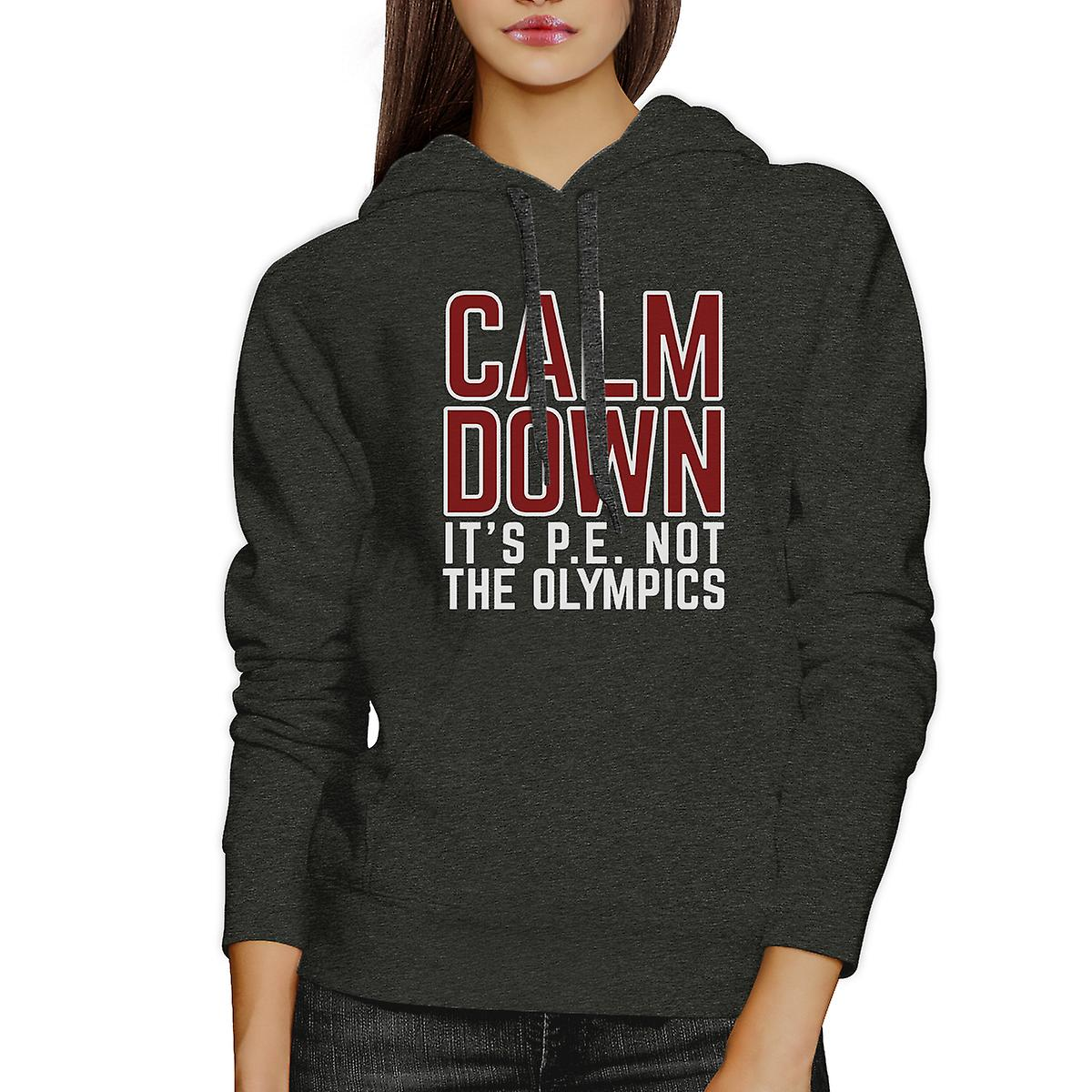 It's PE Not The Olympics Dark Gray Funny College Graphic Hoodie