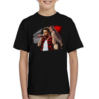 Liam Payne Of One Direction Murrayfield Stadium 2014 Kid's T-Shirt