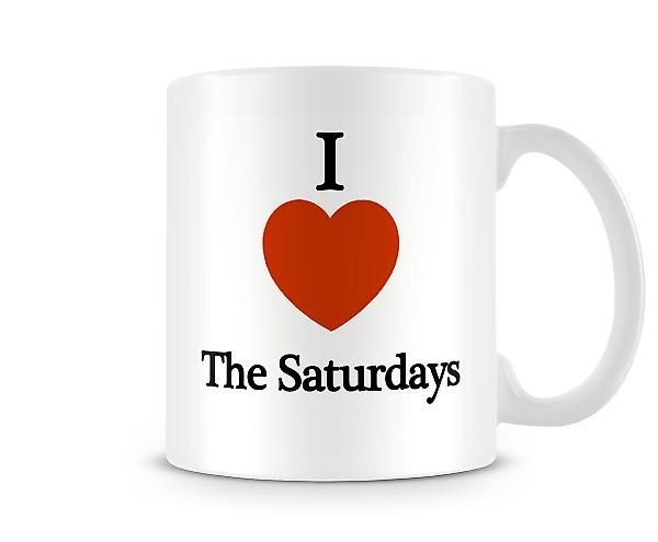 I Love The Saturdays Printed Mug