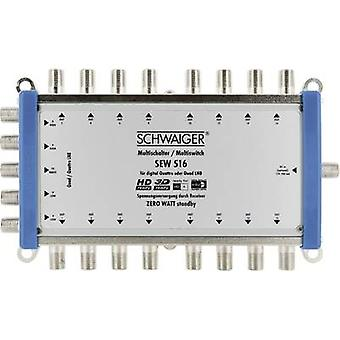 Schwaiger SEW516 531 SAT multiswitch Inputs (multiswitches): 5 (4 SAT/1 terrestrial) No. of participants: 16 Standby mode, Quad LNB compatible