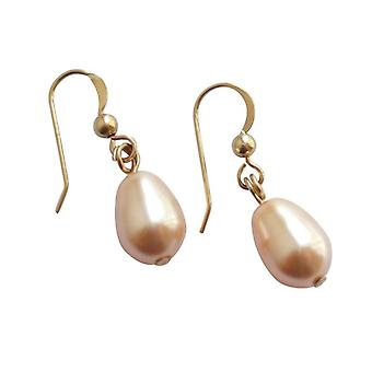 Shell Pearl Earrings Rosé MK Pearl drop earrings gold plated
