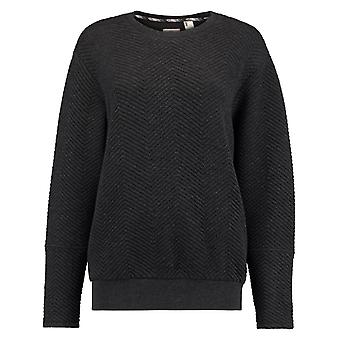 ONeill Dark Grey Melee Quilted Womens Sweater