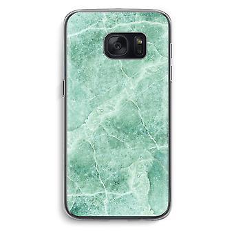 سامسونج Galaxy S7 شفافية القضية (الناعمة)-رخام أخضر