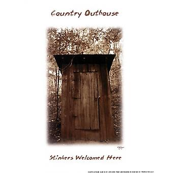 Country Outhouse Poster Print by John Jones (8 x 10)