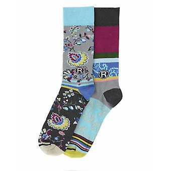 Paisley crazy cotton men's dress sock | 2 pair gift set by Dub & Drino