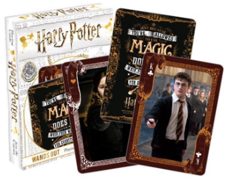 Harry Potter Wands Out 52 Playing Cards (+ Jokers)