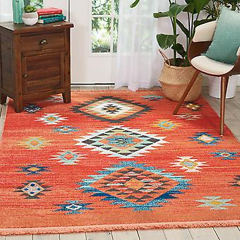 Navajo Rugs Nav07 In Red Nourison