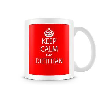 Keep Calm je suis un Mug imprimé Dietition