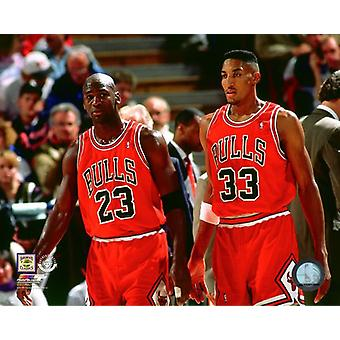 Michael Jordan & Scottie Pippen foto afdrukken
