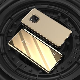 For Huawei mate 20 Pro clear view mirror mirror smart cover gold protective sleeve cover pouch case cover new case wake UP function