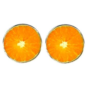 Bassin et Brown fruits Orange boutons de manchette - Orange