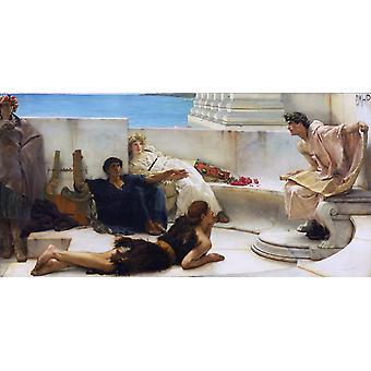 Una lectura de Homero, Sir Lawrence Alma-Tadema, 80x40cm