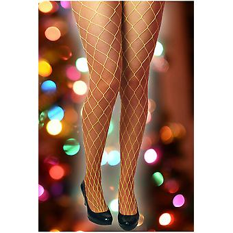 Stockings and leg accessories  Fishnet stockings bright yellow