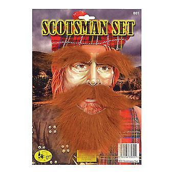 Scotsman satt (skjegg, Tash, øyenbrynene).