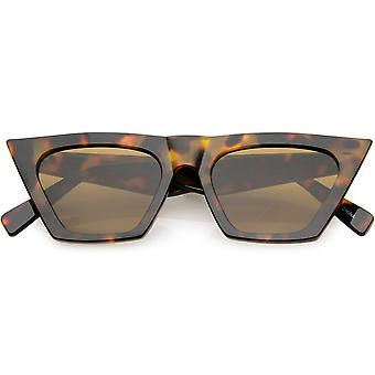 Oversize Exaggerated Cat Eye Sunglasses Wide Arm Square Lens 51mm