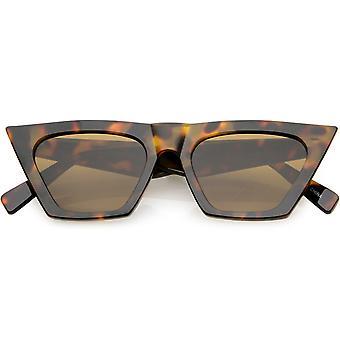 Oversize overdrevet Cat Eye solbriller hele armen Square linse 51mm