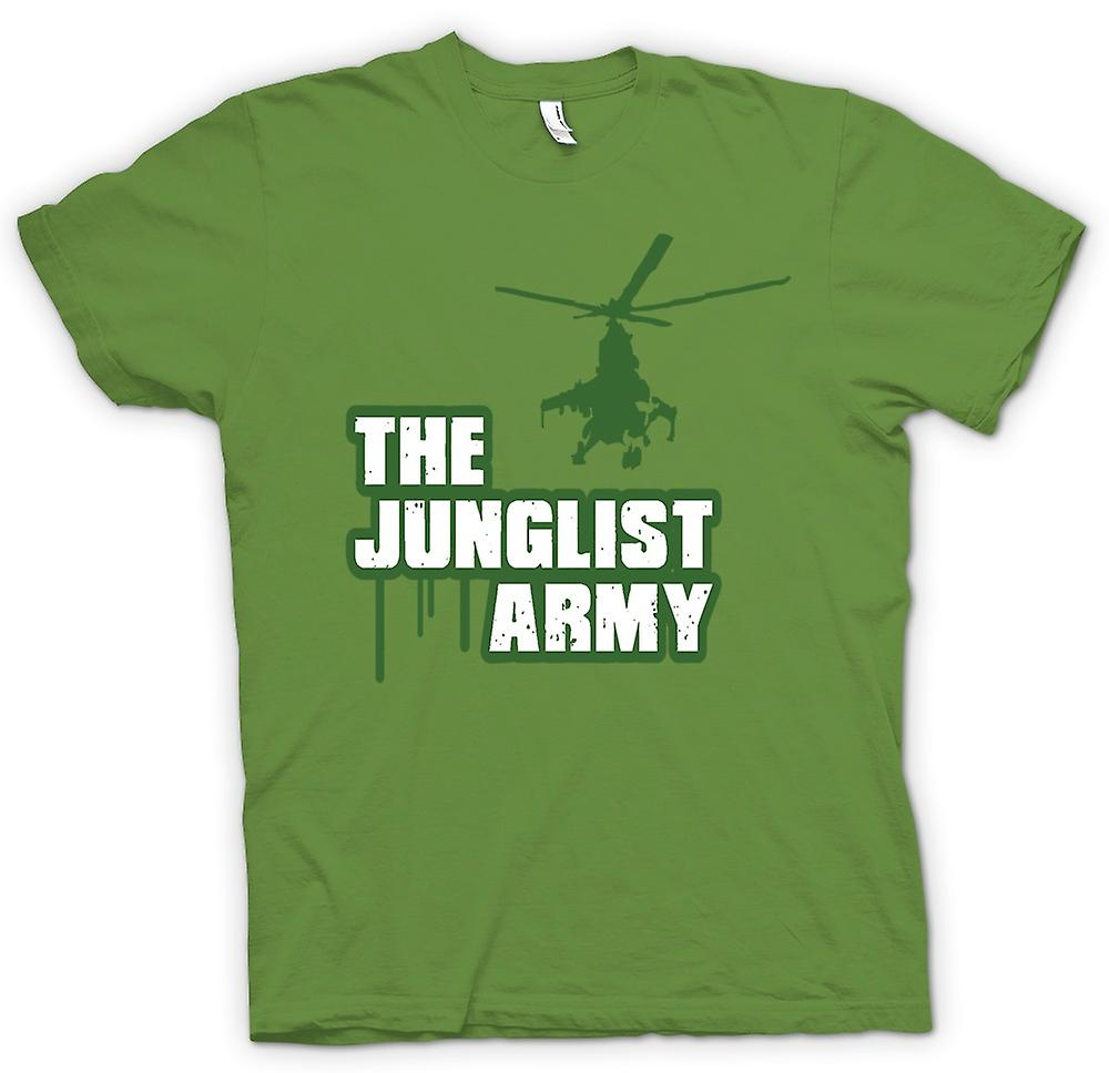 Mens T-shirt - het Junglist leger - Drum n Bass